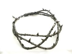 THIERRY MUGLER  Runway Unique piece crown of thorns Amazing Necklace Collar