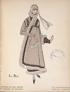 "From Gazette du Bon Ton (1922)  Please someone tell me ""rat"" is an obscure French fashion term for something that is not a rat."