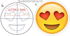 How to Draw Heart Eyes Emoji Face Step by Step Drawing Tutorial ...