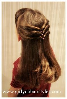 hair styles for medium length hair hair trends brunette hair Easy Little Girl Hairstyles, Cute Hairstyles, Braided Hairstyles, Step Hairstyle, Wedding Hairstyles, Simple Hairdos, Hairstyle Images, Birthday Hairstyles, Female Hairstyles
