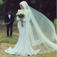 Find More Wedding Dresses Information about Dubai Kaftan Elegant Mermaid Round Neck Long Sleeve Crystal Muslim Lace Wedding Dresses 2016 Bridal Gowns vestido de noiva AW26,High Quality dress beyonce,China dresses princess Suppliers, Cheap dresses sexy from LaceBridal on Aliexpress.com