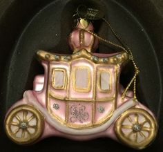 Juicy Couture Carriage Glass Ornament