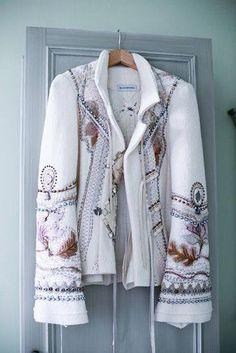 Nakışlı bohem ceket