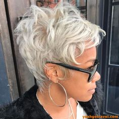 36 Most Coolest Short Grey Haircuts We Love Short Sassy Hair, Cute Hairstyles For Short Hair, Short Hair Cuts For Women, Curly Hair Styles, Natural Hair Styles, Short Gray Hair, Short Grey Haircuts, Edgy Pixie Cuts, My Hairstyle