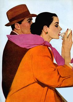 Illustration by Coby Whitmore for the story, That Special Face, Cosmopolitan, May 1951