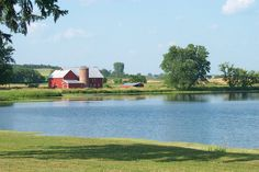 Wisconsin Vacation, Mirror Lake, Live In The Now, Farm House, Barn, Construction, River, Places, Pictures