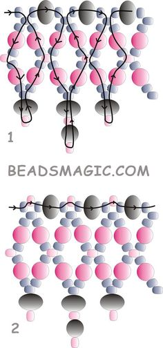 Free pattern for beautiful beaded necklace Milady.  U need:    rondelle beads 4-5 mm    round pearls beads 4-5 mm    round faceted beads 4-5 mm    seed beads 10/0 – 11/0  - See more at: http://beadsmagic.com/?p=2518#more-2518