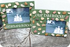 Our Dad Rocks Picture Frame - Father's Day Gifts