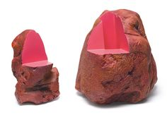 "Ken Price, ""The Pinkest and the Heaviest"" (1986), fired and painted clay, two parts: 7 x 4 ½ x 3 ¾ in, 8 ½ x 8 ½ x 7 ¾ in (Betty Lee and Aaron Stern Collection) (© Ken Price, photo © Fredrik Nilsen, courtesy Metropolitan Museum)"
