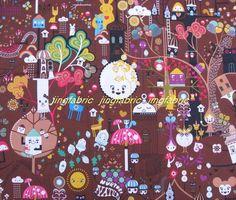 SALE  W023D   Vinyl Waterproof Fabric  Cute animals  by jingfabric, $2.30