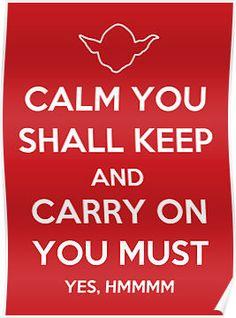 Keep Calm Yoda #keep_calm #yoda #star_wars