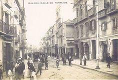 Calle Carreterias, entonces calle Torrijos. ANCIENT MALAGA ´SPAIN