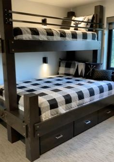 Bedroom Storage Ideas For Clothes, Bedroom Storage For Small Rooms, Bunk Beds Small Room, Bunk Bed Rooms, Adult Bunk Beds, Storage Bunk Beds, Bunk Beds For Adults, Small Room Storage Ideas, Bedroom Ideas For Small Rooms For Adults