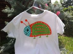 Fun and Adorable Applique Beetle Shirt by ThatsSewPersonal on Etsy, $21.99