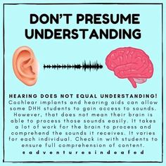 Hearing Does Not Equal Understanding