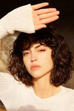 Looking for short hairstyles for your curly hair? Then look at up at our provided short curly hairstyles collection. So, do hurry and take a look. curly hair styles 26 Cute And Sexy Hairstyles For Short Curly Hair : Don't Miss Short Curly Hairstyles For Women, Curly Bob Hairstyles, Curly Hair Styles, Curly Short, Short Perm, Hairstyle Names, Curly Bob Bangs, Curly Bob With Fringe, Thick Curly Haircuts