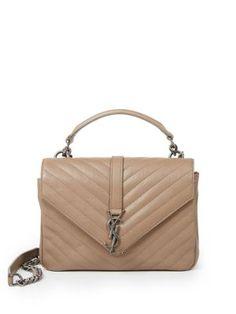 29409ba9553 Monogram medium matelasse leather college bag by Saint Laurent. Defined by  the elegance of matelasse leather, this sleek envelope design features  timeless ...