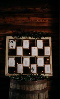 Rustic Wedding Reception Decor Seating Chart Rustic Wedding Reception, Wedding Rehearsal, Wedding Reception Decorations, Wedding Venues, Orange Plant, Green And Orange, Orange Centerpieces, Creative Wedding Inspiration, Seating Chart Wedding