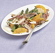 Asparagus Salad with Orange, Prosciutto, and Pistachios - Fine Cooking Recipes, Techniques and Tips Pea Recipes, Veggie Recipes, Salad Recipes, Healthy Recipes, Fine Cooking Recipes, Gourmet Recipes, Asparagus Salad, Asparagus Recipe, Pistachio Recipes