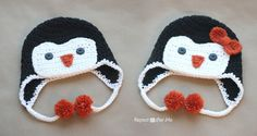 Crochet Penguin Hat Pattern by Repeat Crafter Me