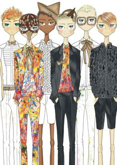 le benites #illustration #fashion #guys
