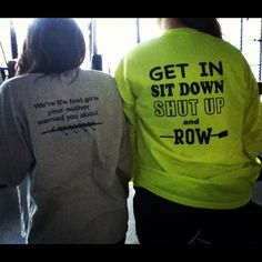 crew shirts ;) I think we'll need the one in the right for sure! lol