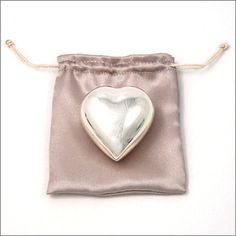 Silver Heart Christening Rattle
