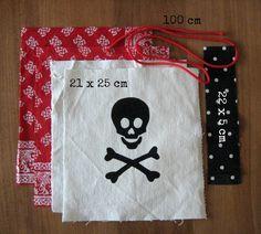 Vandaag een nieuw Naaiproject: naai een Eenvoudig, Gevoerd Knikkerzakje/ Uitdeelzakje/ Bewaarzakje voor je kind!     Het piraten-sjabloo...