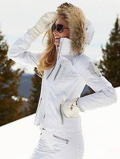 moya-tp white jacket with fur - ski parkas - ski - women - Categories - Gorsuch
