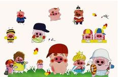 Wall Stickers for Kids Stick Wall Decals Wall Decals Decoration Wall Sticker Decal - Piggy Pig by bigbvg, http://www.amazon.com/dp/B0088I782E/ref=cm_sw_r_pi_dp_llg0pb1A0K1N3
