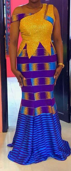 kente fashion, African fashion, Ankara, kitenge, A. African Fashion Ankara, African Fashion Designers, Latest African Fashion Dresses, Ghanaian Fashion, African Dresses For Women, African Print Dresses, African Print Fashion, Africa Fashion, African Attire