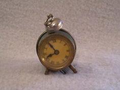 Antique German Figural Alarm Clock Sewing Tape Measure