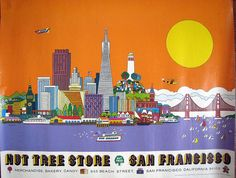 San Francisco by Lowell Herrero 1976 for the Nut Tree Store