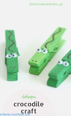 clothespin crocodile craft - My CMS Kids Crafts, Recycled Crafts Kids, Summer Crafts, Cute Crafts, Toddler Crafts, Craft Stick Crafts, Preschool Crafts, Recycle Crafts, Popsicle Stick Crafts