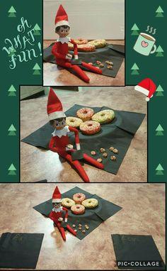 Night 18 2016 Elf on the Shelf Donuts