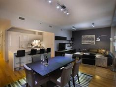 hgtv dining rooms black and white | Contemporary Gray Bachelor Pad : Rooms : Home & Garden Television