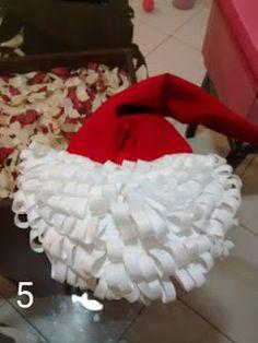 Hermosos adornos navideños en fieltro para la puerta ~ Mimundomanual