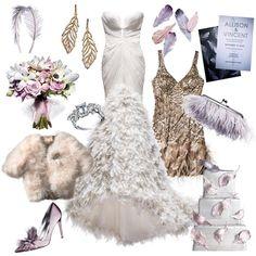 #Wedding style inspiration: feathers! #fashion