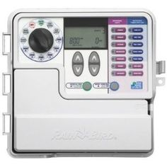 Rain Bird SST-600o Simple to Set Indoor/Outdoor 6-Zone Timer by Rain Bird. $88.66. Automatic outdoor watering system timer with control for up to 6 zones. Sealed case protects against moisture, insects, and grime; superior surge protection. Easy-to-operate system lets you choose start time, watering duration, and days of week. Simple zone-by-zone setting allows you to customize watering schedules for different areas. Large, easy-to-read screen and backlit buttons a...