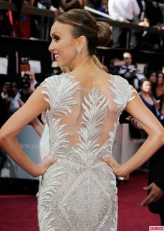 back detailing of Giuliana's Oscars 2012 dress