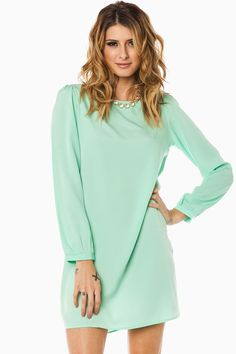 ShopSosie Style : Middleway Shift Dress in Mint