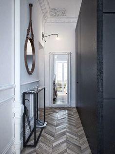 Apartment Entrance Hallway Foyers Ideas For 2019 Apartment Showcase, Apartment Design, Apartment Interior, Estilo Interior, Interior Styling, Style At Home, Planchers En Chevrons, Scandi Living, Halls