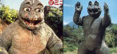 Minilla (Son of Godzilla) Minilla is incredibly cute, one of the main reasons this little guy makes the lame list. Simply put, Japanese movie monsters shouldn't be cute. Minilla's body looks like a large bland rock, but his poor body features are offset by a really sweet, innocent face. It's hard to watch Minilla battling other monsters, as you just want to give it a hug and cradle it in your arms...