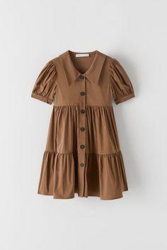 ZARA - KIDS - PLEATED DRESS Zara Jumpsuit, Jumpsuit Dress, Dresses Kids Girl, Girl Outfits, Fashion Outfits, Zara Kids, Fashion Kids, Zara Overall, Crochet Short Dresses