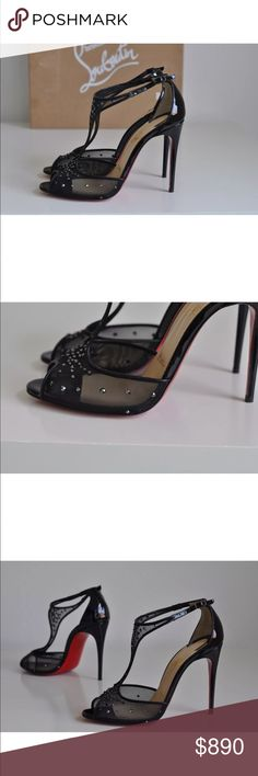 2ac58c2c09123 Beautiful Black Rhinestone Sandals They re not new they are used but they  still got a long way to go i take real good care of my shoes. I had them …