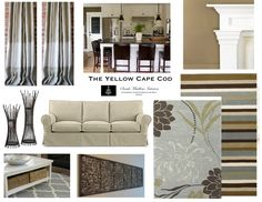 gray and tan living room | The Yellow Cape Cod: How To Choose Christmas (Holiday) Decor To ...