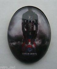 Capitán América Rara Bonita Promo De Seguridad Metal insignia Pin Broche divertido joyería Marvel