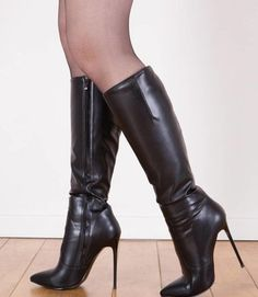 Thigh High Boots Heels, Tights And Boots, Stiletto Boots, Sexy Boots, Cool Boots, Black Boots, Knee Boots, Heeled Boots, High Heels