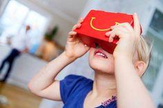 Avec l'agence DDB, Mc Donald's lance le programme Happy Google, qui propose de transformer la boîte de menu Happy Meal en visionneuse à 360 °.