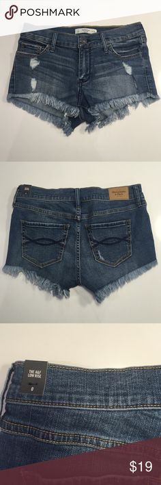 Abercrombie shorts These super flattering shorts are the perfect staple to have in your closet. Pair these shorts with your favorite shirt for a simple and cute look! These low rise shorts have never been worn and are new with tags! They are also super soft and comfortable Abercrombie & Fitch Shorts Jean Shorts